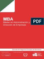 MBA - Master en Administracion y Direccion de Empresas