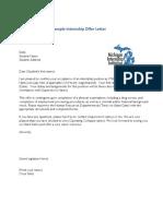 Internship Offer Letter