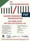 Feministischer Workshoptag PosterA2