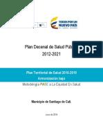 Plan Decenal de Salud Publica Cali 2012-2021
