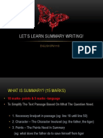 Let's Learn Summary Writing!
