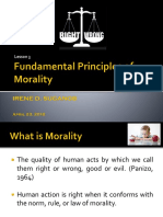 Fundamental Principles of Morality