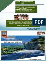 Lineamientos generales para la identificación y registro de las inversiones de optimizan y registro de las inversiones