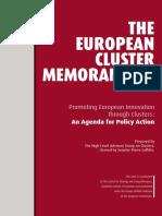 European Cluster Memorandum