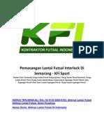 Pemasangan Lantai Futsal Interlock Di Semarang - KFI Sport