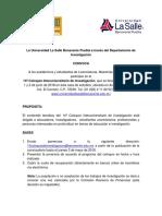 Convocatoria ULSA 18