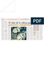 El Valor de La Cultura Para Generar Empresas