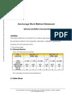 Anchorage Works Method Statement