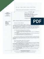 Lettre Du Maire d'Antibes à La DRAC Decembre 2017