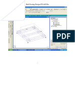 Raft Footing Design STAAD Pro