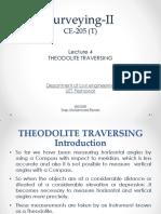 Lecture 4 - Theodolite Survey