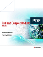 TIPL4708 - Real and Complex Modulation