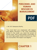 Personnel and Human Resources Management