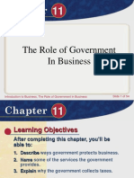 Chapter 11 Role of Govt. in Business