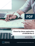 Clause by Clause Explanation of AS9100 Rev D En