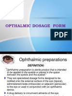 Ophthalmic Dosage Forms