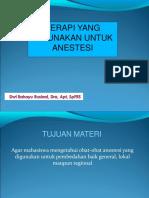 Obat-obat Anestesi Untuk Profesi040416