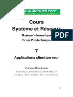 Cours Systeme Et Reseaux Application Client Server