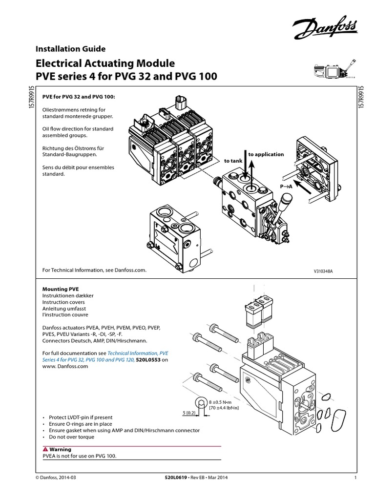 DANFOSS 157B4716   Feedback   Electrical Connector on