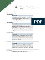 Matriz Curricular Do Curso De gerenciamento cisco