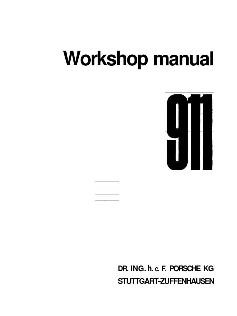 Porsche Workshop Manual 911 1972 Internal Combustion Engine Figure 27block Diagram Of A Velocity Servo Cylinder