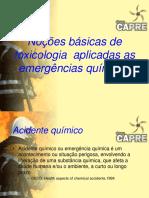 1 Noções básicas de toxicologia aplicadas as emergências químicas Fundo CAPRE.ppt