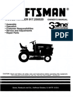 Craftsman MODEL NUMBER 917.250520 Owners Manual