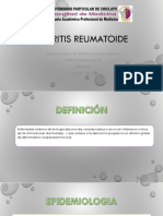ARTRITIS REUMATOIDE reumatologia