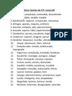 Vocabulario Lovecraft