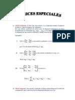 Matrices Especiales