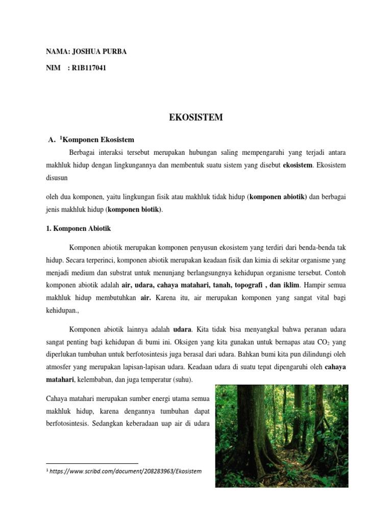 Tugas Ekosistem