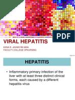 Hepatitis - Topic 3 for Sc