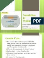 Translation in Prokaryotes