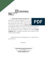 Carta de Inactividad Semat Vaho's Cosmetics c.a.