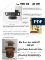 The Bronze Age and Iron Age