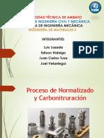 Normalizado y Carbonitruracion