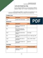 Lista de Etiquetas HTML Estwitdeggarfz