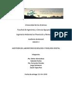 Informe Auditoria Ambiental Laboratorio Biología y Fisiología