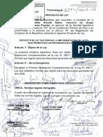 Proyecto de ley que deroga la implementación del voto electrónico en los procesos electorales