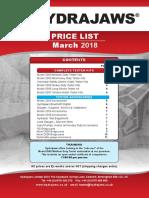 Hydrajaws Price List MAR 2018