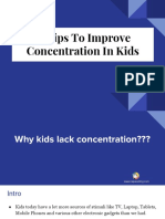9 Tips To Improve Concentration In Kids