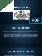 REGISTRO SINDICAL