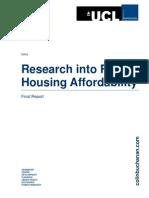Rural Housing Affordability