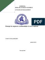 Strategii de Asigurare Si Îmbunătățire La Nivel Național