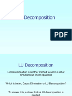 12 LU Decomposition Lecture