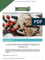 10 Desayunos Para Preparar en Menos de 10 Minutos _ Recetas El Comidista EL PAÍS
