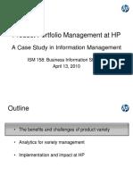Product Portfolio Management at HP