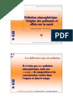 Pollution Atmospherique - Origine Des Polluants Et Effets Sur La Sante