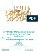 Book Rev. Performance Management in a Week