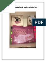 math activity box